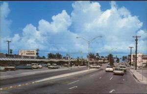 Pompano Beach FL East on Atlantic Blvd Postcard