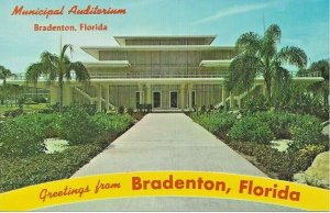 Postcard - FL - Florida Municipal Auditorium Bradenton Unposted