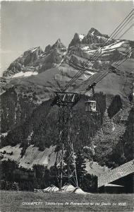Switzerland Suisse CHAMPERY Teleferique de Planachaux et les Dents du Midi