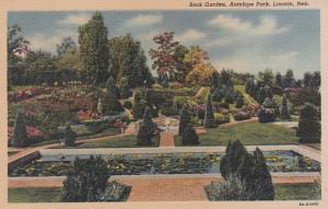Nebraska Lincoln Antelope Park Rock Garden 1954 Curteich