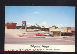 BARSTOW CALIFORNIA ROUTE 66 1950's CARS SKYVIEW MOTEL