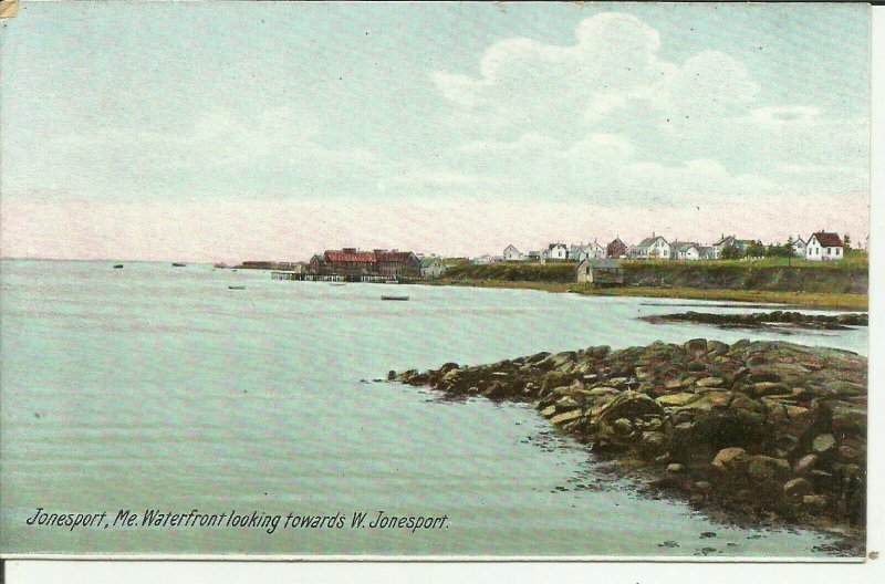 Jonesport, Me., Waterfront looking towards W. Jonesport Maine