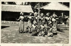 indonesia, BALI, Native Topless Women Dancing (1920s) RPPC Postcard