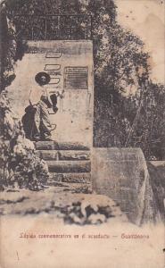 Cuba Guantanamo Lapida conmemorative en el acueducto