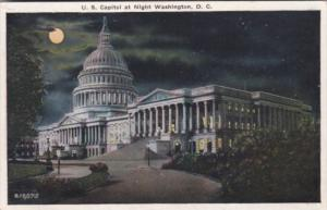 Washington D C Capitol Building At Night