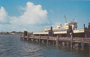Ocracoke Harbor, Pamlico Docking, OUTER BANKS, North Carolina, 40-60's