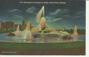 Chicago, Grant Park, Buckingham Fountain by Night