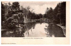 Massachusetts Springfield Lake in Forest Park