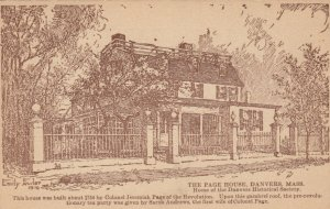 DANVERS , Massachussets, 1916; The Page House, AS; Emily Fowler