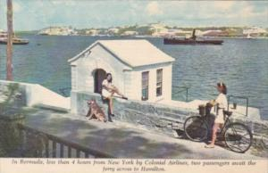 Bermuda Two Ladies Await Ferry Across To Hamilton Colonial Airlines
