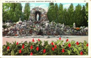 New York Saratoga Springs The Grotto St Clement's College 1937