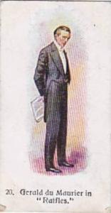 Player Vintage Cigarette Card Players Past & Present 1916 No 20 Gerald du Mau...