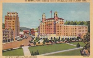 Arkansas Hot Springs Central Avenue Showing Medical Arts Building & Arlington...