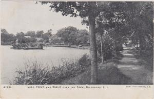 Mill Pond & Walk Over the Dam, Riverhead, LONG ISLAND, New York, 1901-07