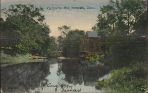 Norwalk CT Gutheries Mill c1910 Postcard