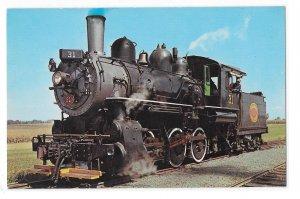 Strasburg Railroad Old Number 31 Steam Engine Baldwin Locomotive Train Postcard