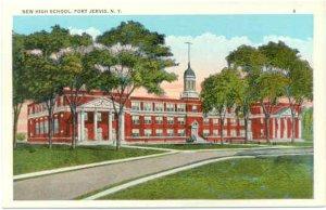 New High School, Port Jervis, NY, New York State, White Border