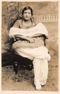 Lot147 peshawar pakistan real photo woman types folklore costume