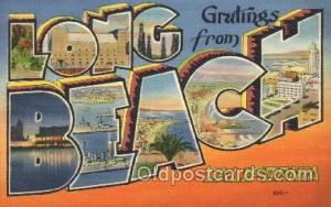 Long Beach, California, Usa Large Letter Town, Towns, Postcard Postcards  Lon...