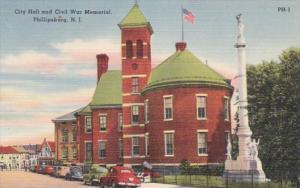 New Jersey Philipsburg City Hall and Civil War Memorial