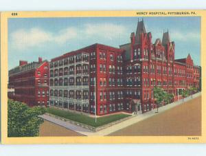 Unused Linen HOSPITAL SCENE Pittsburgh Pennsylvania PA J9609