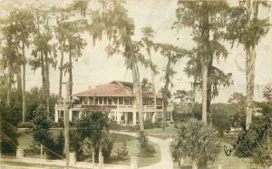 Beaumont South Carolina 1945 Postcard Large Residence hand colored 11638