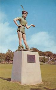 Weatherford Texas~Peter Pan Statue~Mary Martin Actress~Cherry Park~Gone~1960s PC