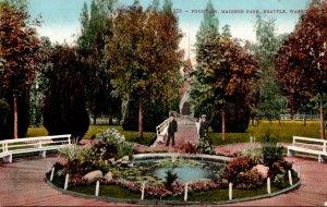 Washington Seattle Fountain In Madison Park