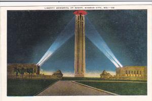 Liberty Memorial At Night Kansas City Missouri 1949