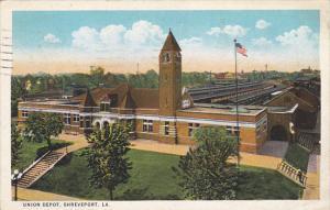 Louisiana Shreveport Union Railway Depot 1926 Curteich