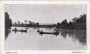 New York Herkimer Canoeing Om Mirror Lake