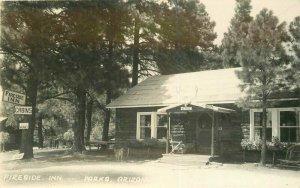 Fireside Inn Parks Arizona Roadside 1940s RPPC Photo Postcard 7707
