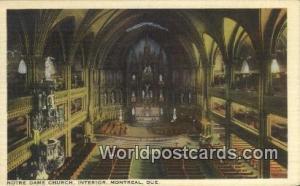 Montreal Canada, du Canada Notre Dame Church  Notre Dame Church