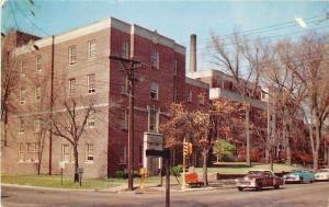 Galesburg Illinois~Cottage Hospital & Nurses Home~Nice Cars~1954 Postcard