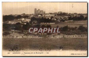 Old Postcard Bourges Panorama taken from Beauregard