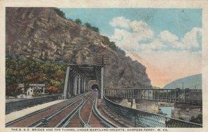 HARPERS FERRY , West Virginia, 1907 ; B & O Railroad Bridge & Tunnel