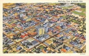 Lincoln Nebraska~Aerial View Of Lincoln~1950s PC
