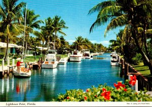 Florida Lighthouse Point Canal Scene