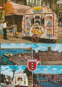 Amsterdam Street Organ 2x Dutch Postcard s