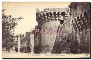 Old Postcard Avignon Ramparts