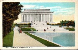 Vtg 1920s Lincoln Memorial Washington DC Unused Postcard