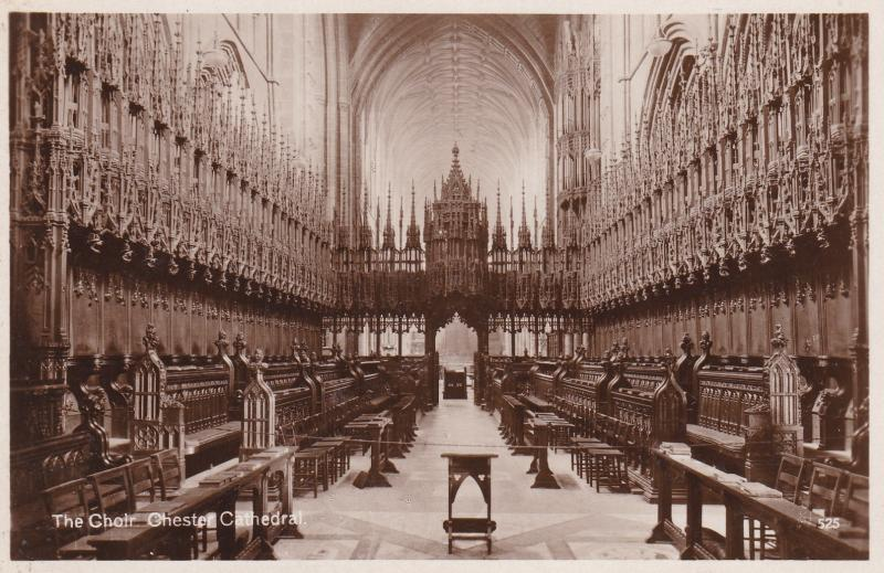 Post Card Cheshire CHESTER Chester CathedralThe Choir