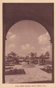 VENICE , Florida, 00-10s ; Scene from the Veranda of Hotel Venice