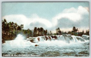Lewiston Maine~West Pitch Falls~Androscoggin River~Clouds Above Evergreens~1905