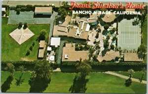 Frank Sinatra's home Rancho Mirage aerial  California postcard