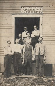 RP: BRIDGEPORT , Ohio, 1908 ; Craig Cigar Company , Workers