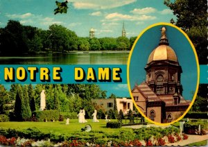 Indiana South Bend University Of Notre Dame The Golden Dome & Multi VIew
