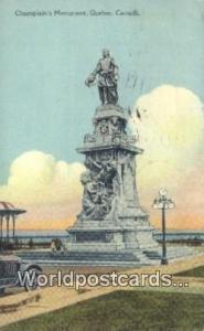 Quebec Canada, du Canada Champlain's Monument  Champlain's Monument