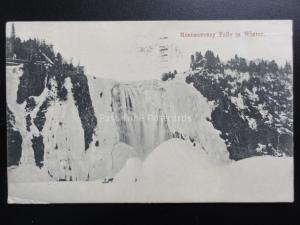 Canada: Quebec, Montmorency Falls in Winter c1911 Old Postcard