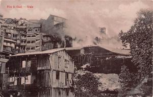 India Simla - Fire in Gunj, Shimla real photo